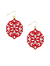 Modern Damask Pattern Resin Earring