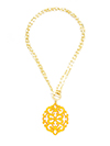 Modern Damask Pendant Necklace